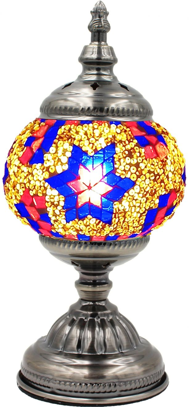 Mosaic glass lamp in straight up style 020