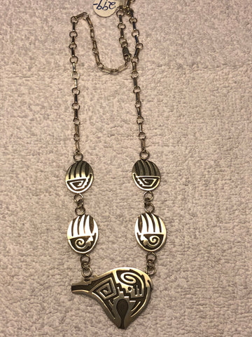 Navajo overlay sterling silver necklace. Use code SAVE50 at checkout to save 50%