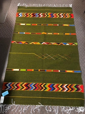 Zapotec Handwoven wool rug   1067