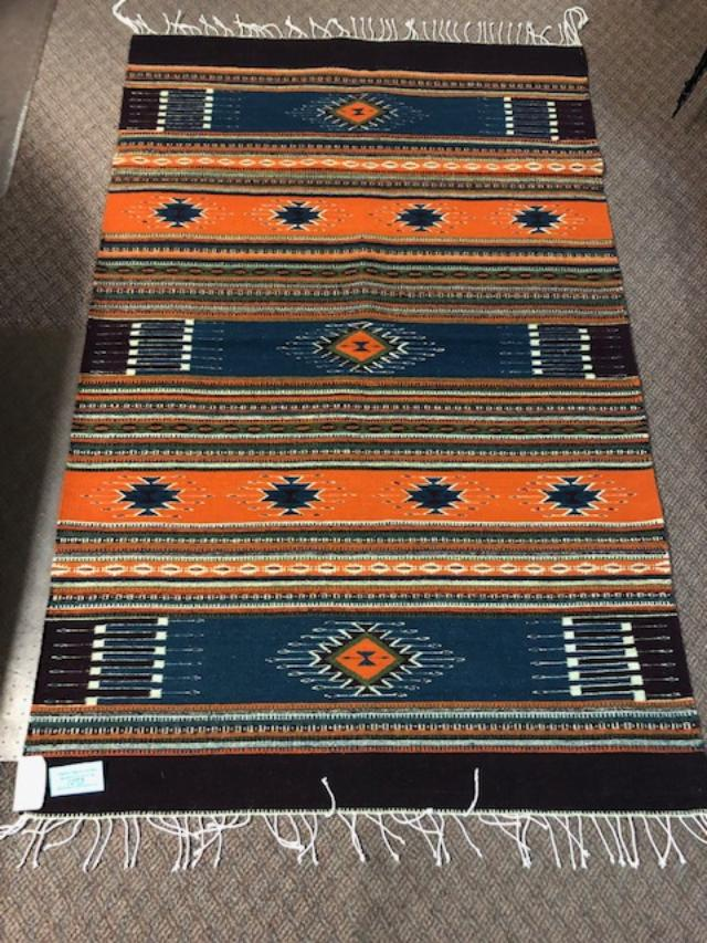 Zapotec Handwoven Wool rug  1073