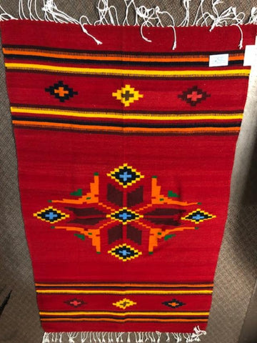 Zapotec Handwoven Wool Rug  1076