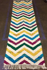 Silk and Wool handwoven Zig Zag rug. SAVE 50% AT CHECKOUT WITH DISCOUNT CODE SAVE50
