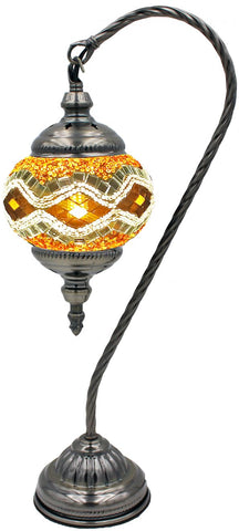 amber color stained glass mosaic glass globe lamp