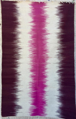 Pink 1679 Ikat design rug  Save 50% at checkout with code SAVE50