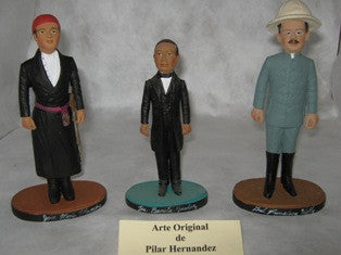 Sculpture of Pancho Villa by Pilar Hernandez, in clay, 2004.
