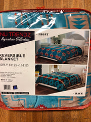 Nu Trendz two sided silk touch blanket.  Twin & Queen Size