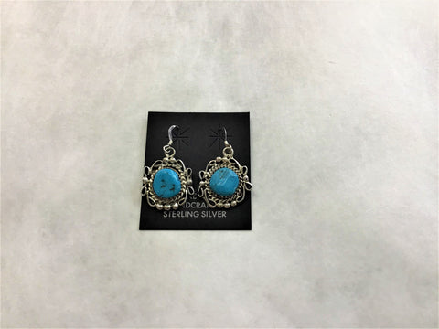Sterling Silver Turquoise Stone Earrings (F20).   USE CODE: SAVE50 for additional savings.
