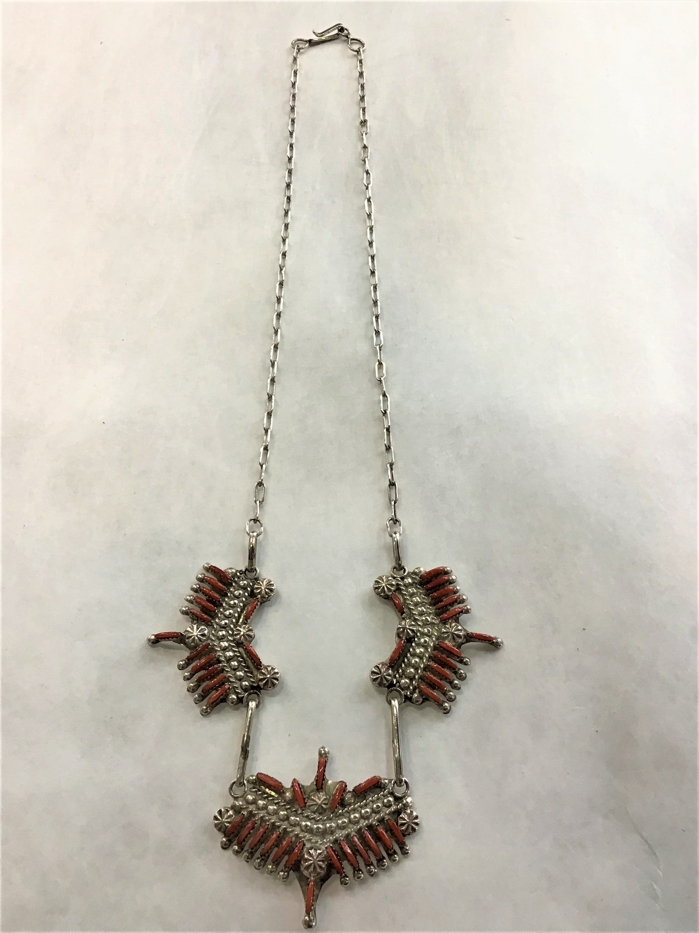 Inlay Coral Necklace  (F23)    USE CODE: SAVE50 for additional savings.