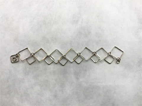 Sterling Silver Double Box Bracelet  (F26).   USE CODE: SAVE50 for additional savings.