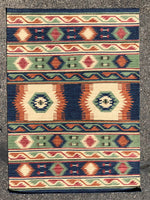 Handwoven Wool Rug in Southwestern, Native American style       27122