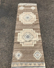 Handwoven wool rug with Natural color wool #29274  5 sizes
