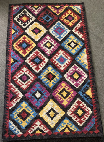 Handwoven Wool Rug in Southwestern, Native American style    24776