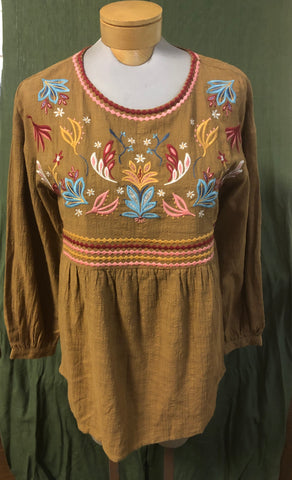 Andre 100% cotton embroidered blouse