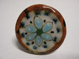 Ken Edwards Large Drawer Pull (D8) is the largest of our drawer knobs.  Each one is stoneware that is fired in a kiln at 1,000 degrees.  Each knob is a one of a kind work of art.