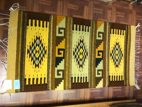 Zapotec handwoven rugs in wool.  1028