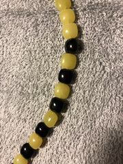 Yellow and black Agate necklace with sterling silver clasp.  Use code SAVE50 at checkout to save 50%.