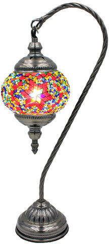 Mosaic Glass Goose Neck Lamp  #112