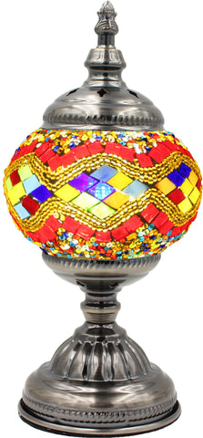 Mosaic glass lamp in straight up style 001