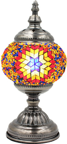 Mosaic glass lamp in straight up style 002