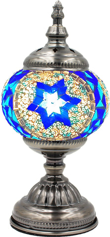 Mosaic glass lamp in straight up style 003