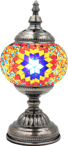 Mosaic glass lamp in straight up style 014