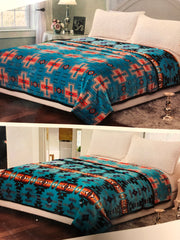 luxurious soft two sided bed blanket