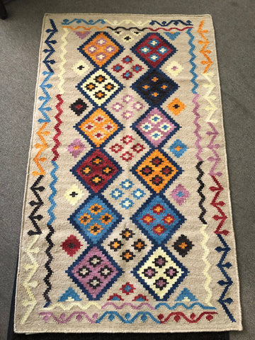 Handwoven Wool Rug in Southwestern, Native American style   24772