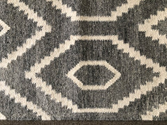 Handwoven Wool Rug in a classic Geometric design using all Natural sheep color wools  # 2125