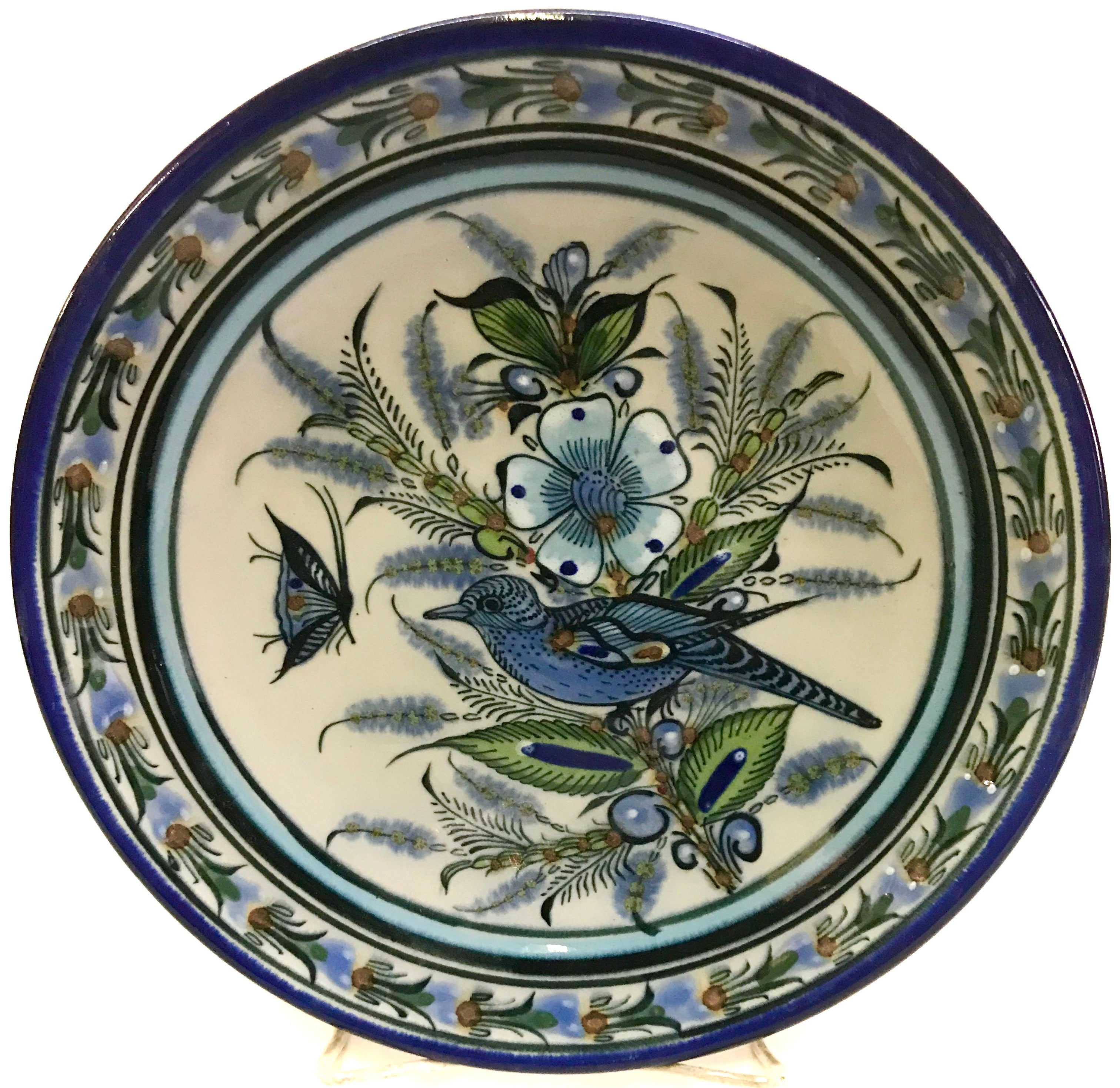 blue rim collection series dinner plate
