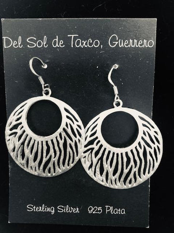 Round Filagree Sterling Silver Earrings  T-40 Use code SAVE50 at checkout to save 50%