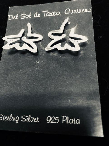 Star Earrings in Sterling Silver  T-46  Use code SAVE50 at checkout to save 50%