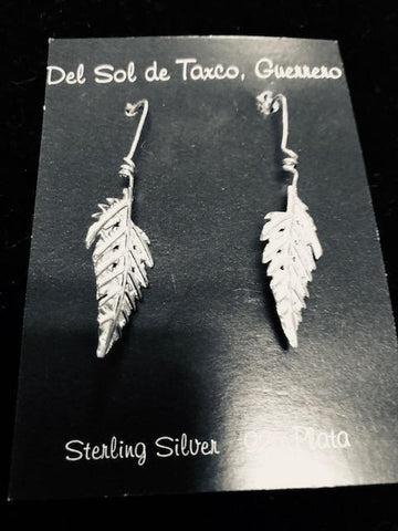 Leaves Earrings in Sterling Silver T-29 Use code SAVE50 at checkout to save 50%
