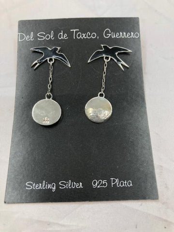 Sea Gull over water Sterling Silver Earrings T-43 Use code SAVE50 at checkout to save 50%