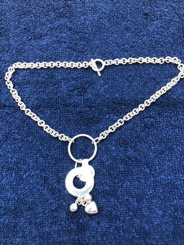 Taxco Sterling Silver necklace with circles.  USE CODE SAVE50 AT CHECKOUT TO SAVE 50%