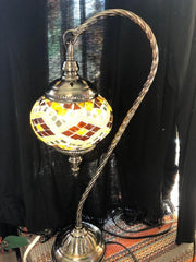 Mosaic Glass Lamp in Gooseneck Style #115