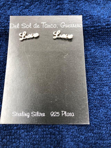 Love Earrings in Sterling Silver  906  Use code SAVE50 to save 50% at checkout.