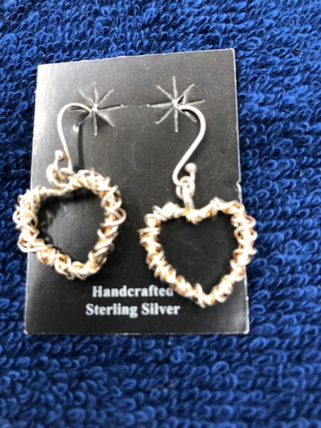 Heart earrings in sterling silver  921  Use code SAVE50 to save 50% at checkout.