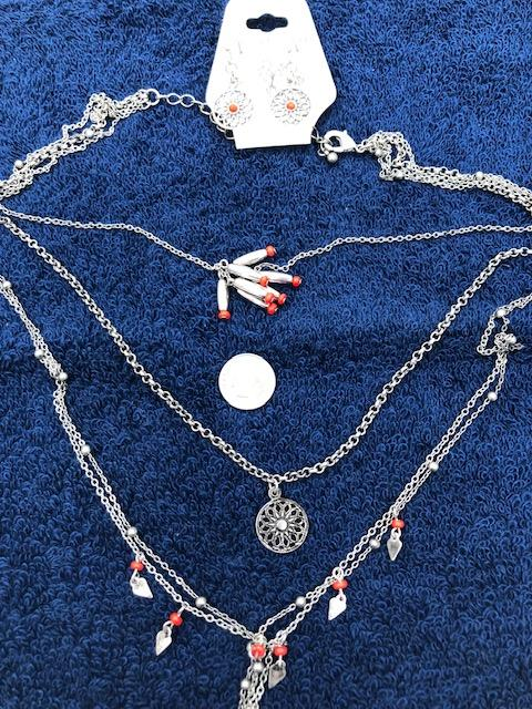 Trisha Waldron Necklace and Earrings set.  TW43  Use code save50 at checkout to save 50%.