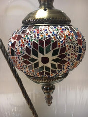 "133 18"" tall Mosaic Glass Gooseneck Lamp"