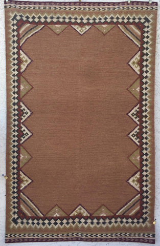 R2 (5X8) handwoven wool rug.  SAVE 50% AT CHECKOUT WITH DISCOUNT CODE SAVE50