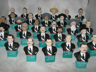 Mexican Presidents Busts (Sculptures)