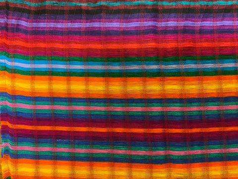 "Guatemalan hand woven soft cotton scarf.  Approximately 12"" x 53"""