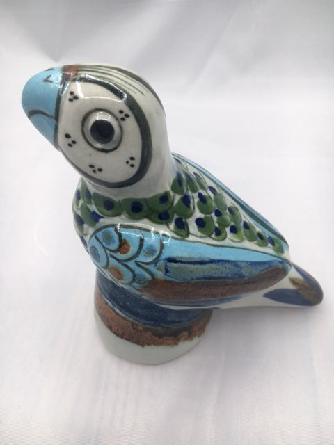 Cute little stoneware pottery parrot from Ken Edwards.