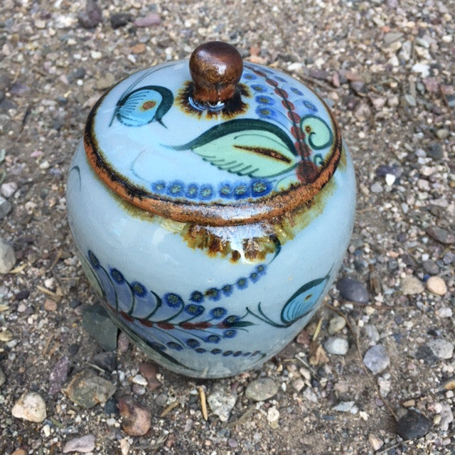 Small Thrown Covered Pot (TX2)