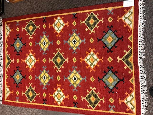 Handwoven Wool Rug in Southwestern, Native American style .  SS14070