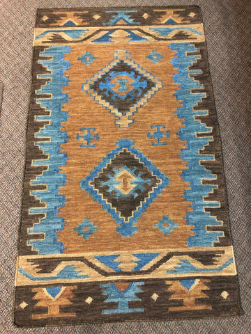 Handwoven Del Sol Original design Wool Rug 27123
