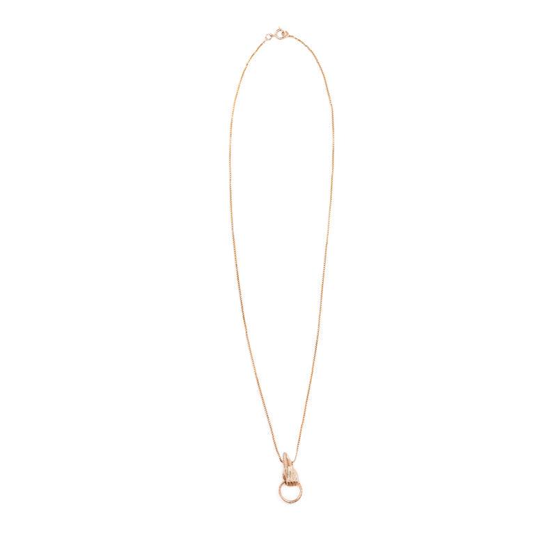 GOLD BABY HAND DIAMONDS NECKLACE - Ruby Star