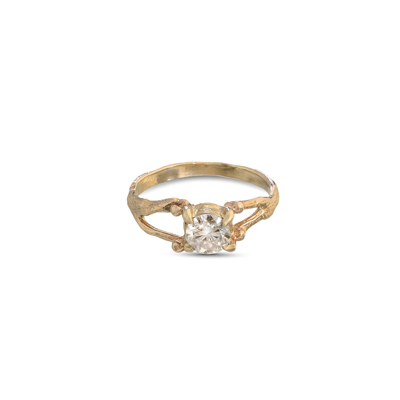 GOLD GRACE RING - Ruby Star