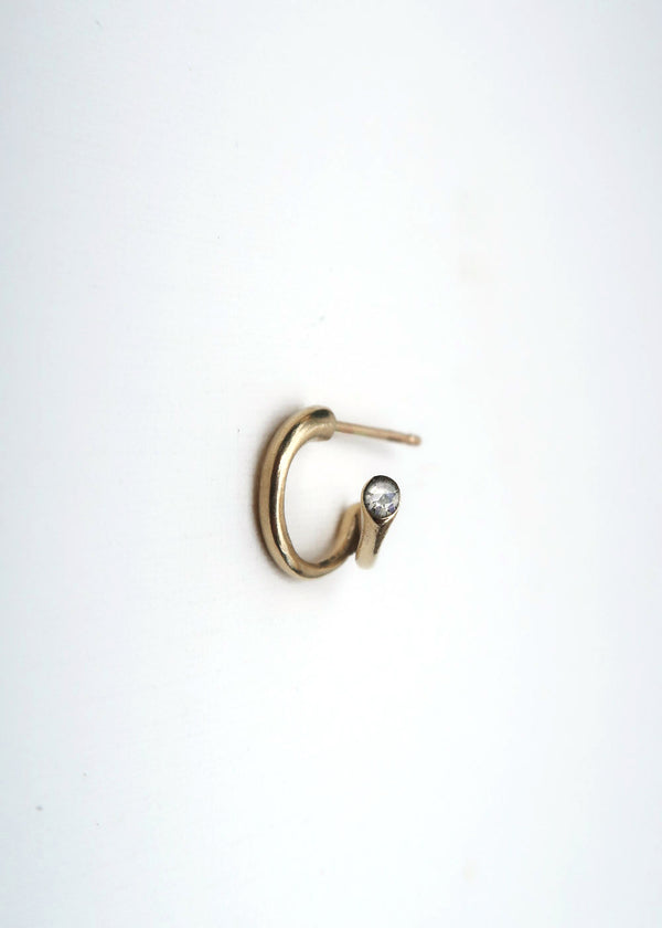 GOLD DUO HOOP EARRING
