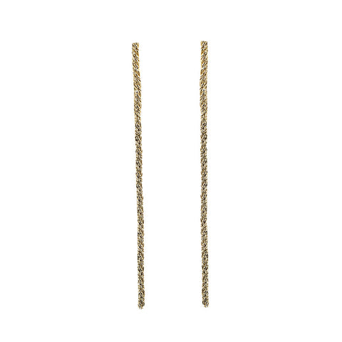 GOLD LONG ROPE EARRINGS